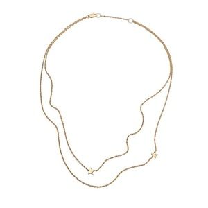 Fabfitfun jenniferZeuner Star Double Necklace gold
